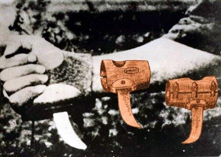 Среднивековая механика в действии? - Специальный усташский нож серборез, дело в том, что при таком количесве жертв, довольно быстро рука устает держать обычную рукоять ножа