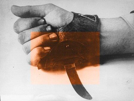 Сербосек (хорв. Srbosjek, дословно Серборез) ятаган, пришитый к грубой кожаной рукавице.