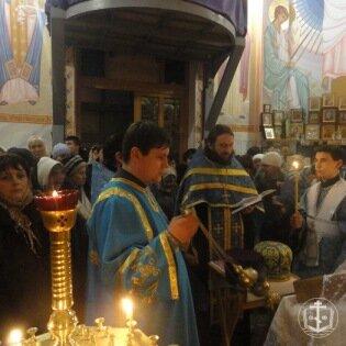 """16-17 января 2012 года состоялся крестный ход с чудотворной иконой Божией Матери """"Касперовская"""" в г.Ильичевск"""