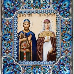 Святые благоверный князь Петр, в иночестве Давид, и княгиня Феврония, в иночестве Ефросиния, Муромские чудотворцы