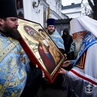 В Одессу со Святой Горы Афон доставлена икона Божией Ма ...